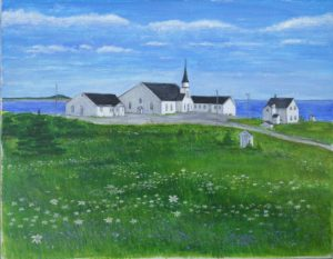 Church Hill 3 Original acrylic painting 14x11x3/4