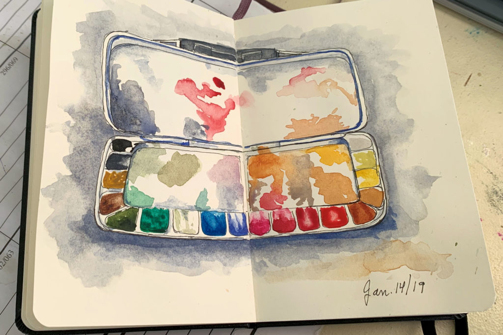 Sketchbook: Watercolour palette